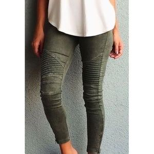 LAST ONE! NWT In the package! Green Moto leggings
